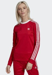 adidas Originals - 3-STRIPES LONG-SLEEVE TOP - Langarmshirt - red - 0