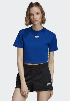 TAPE CROP TOP - T-shirt imprimé - blue