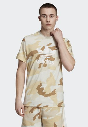 CAMOUFLAGE TREFOIL T-SHIRT - Print T-shirt - beige