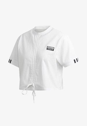 RUCHED T-SHIRT - T-shirt med print - white