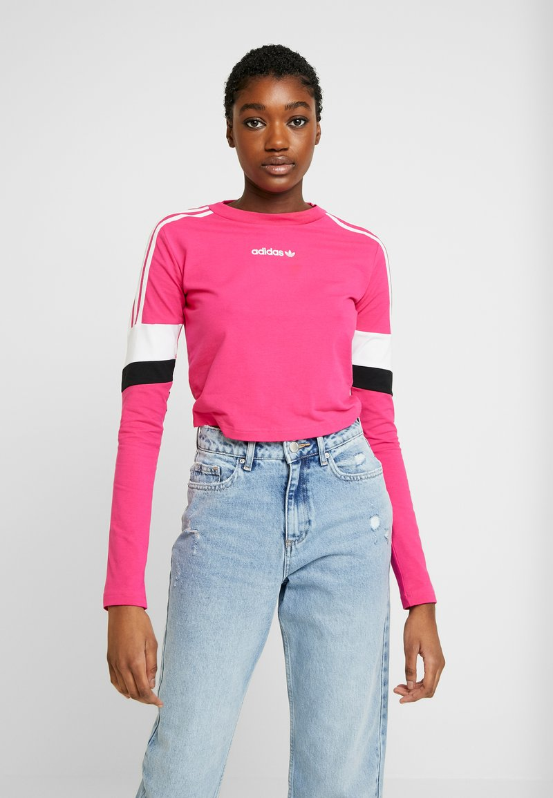 adidas Originals - CROPPED - T-shirt à manches longues - real magenta