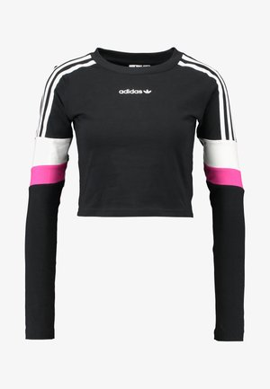 CROPPED - T-shirt à manches longues - black
