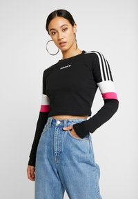 adidas Originals - CROPPED - Long sleeved top - black - 0