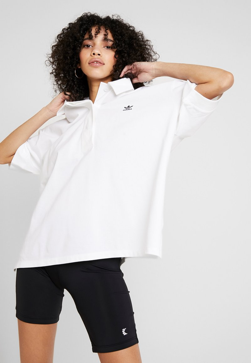 adidas Originals - OVERSIZED - Polo shirt - white/black