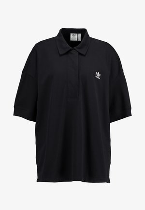 OVERSIZED - Polo shirt - black/white
