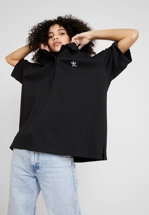 OVERSIZED - Poloshirt - black/white