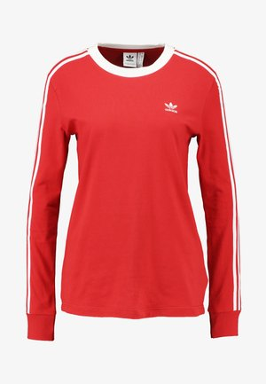 Long sleeved top - lush red/white