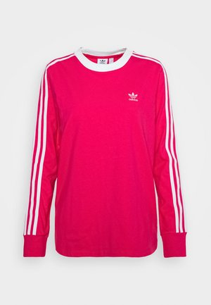 ADICOLOR 3STRIPES LONG SLEEVE T-SHIRT - Maglietta a manica lunga - power pink/white