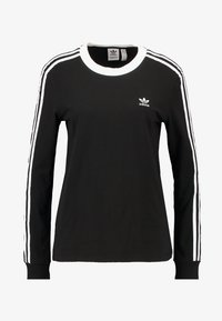 adidas Originals - ADICOLOR 3STRIPES LONG SLEEVE T-SHIRT - Langarmshirt - black/white - 5