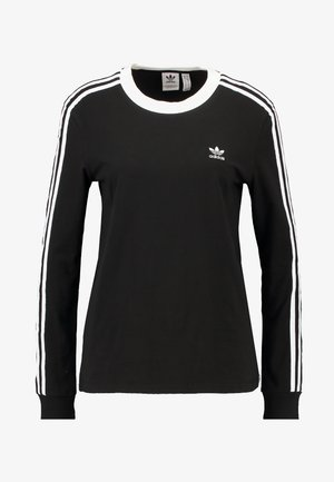 ADICOLOR 3STRIPES LONG SLEEVE T-SHIRT - Pitkähihainen paita - black/white