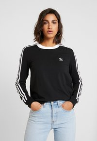 adidas Originals - ADICOLOR 3STRIPES LONG SLEEVE T-SHIRT - Langarmshirt - black/white - 0