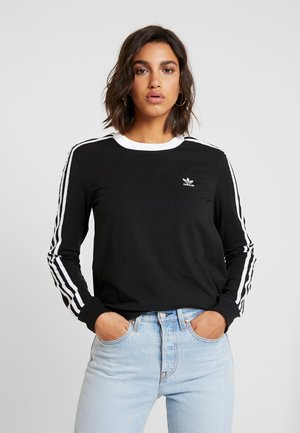 ADICOLOR 3STRIPES LONG SLEEVE T-SHIRT - Longsleeve - black/white