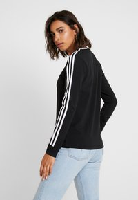 adidas Originals - ADICOLOR 3STRIPES LONG SLEEVE T-SHIRT - Langarmshirt - black/white - 2