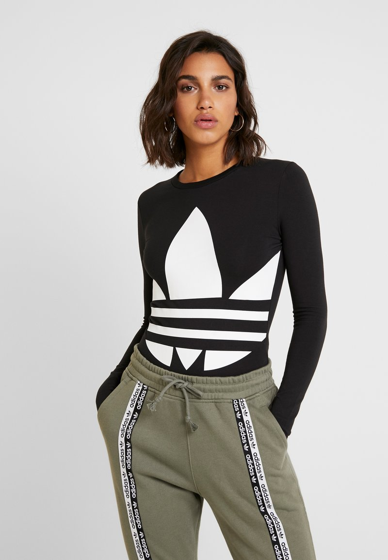 adidas Originals - LOGO BODY - Longsleeve - black/white