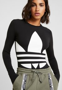 adidas Originals - LOGO BODY - Longsleeve - black/white - 5