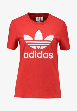 TREFOIL TEE - T-shirt print - lush red/white