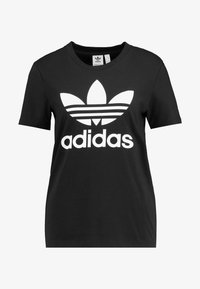 adidas Originals - TREFOIL TEE - Triko spotiskem - black/white - 4