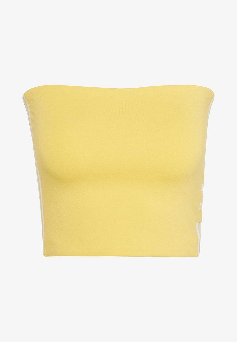 adidas Originals - 3STRIPES ADICOLOR TUBE - Top - core yellow/white
