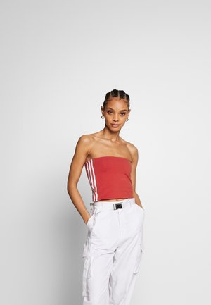 3STRIPES ADICOLOR TUBE - Top - lush red/white