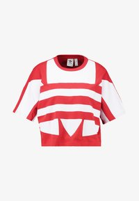 adidas Originals - LOGO TEE - T-shirt con stampa - lush red/white - 4