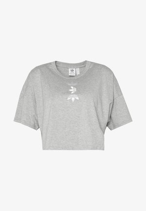LOGO TEE - T-shirt print - grey/white