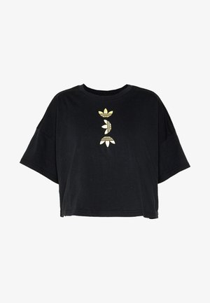LOGO TEE - Print T-shirt - black/gold