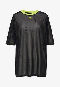 adidas Originals - SHEER - T-shirt con stampa - black - 4
