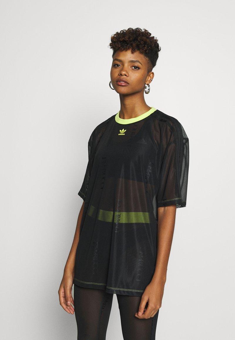 adidas Originals - SHEER - T-shirt con stampa - black