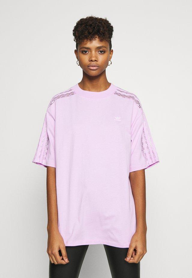 LACE TEE - Camiseta estampada - clear lilac