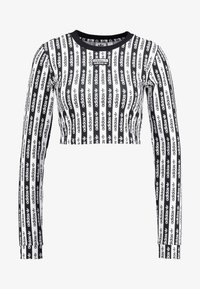 adidas Originals - CROP LONGSLEEVE - Longsleeve - black/white - 4