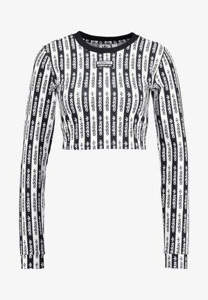 CROP LONGSLEEVE - T-shirt à manches longues - black/white