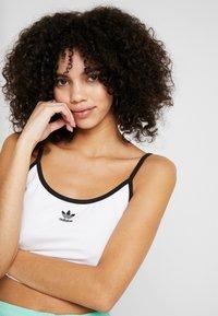 adidas Originals - SPAGHETTI STRAP - Toppi - white/black - 3