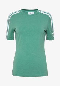 adidas Originals - TIGHT TEE - T-shirt med print - future hydro/white - 3