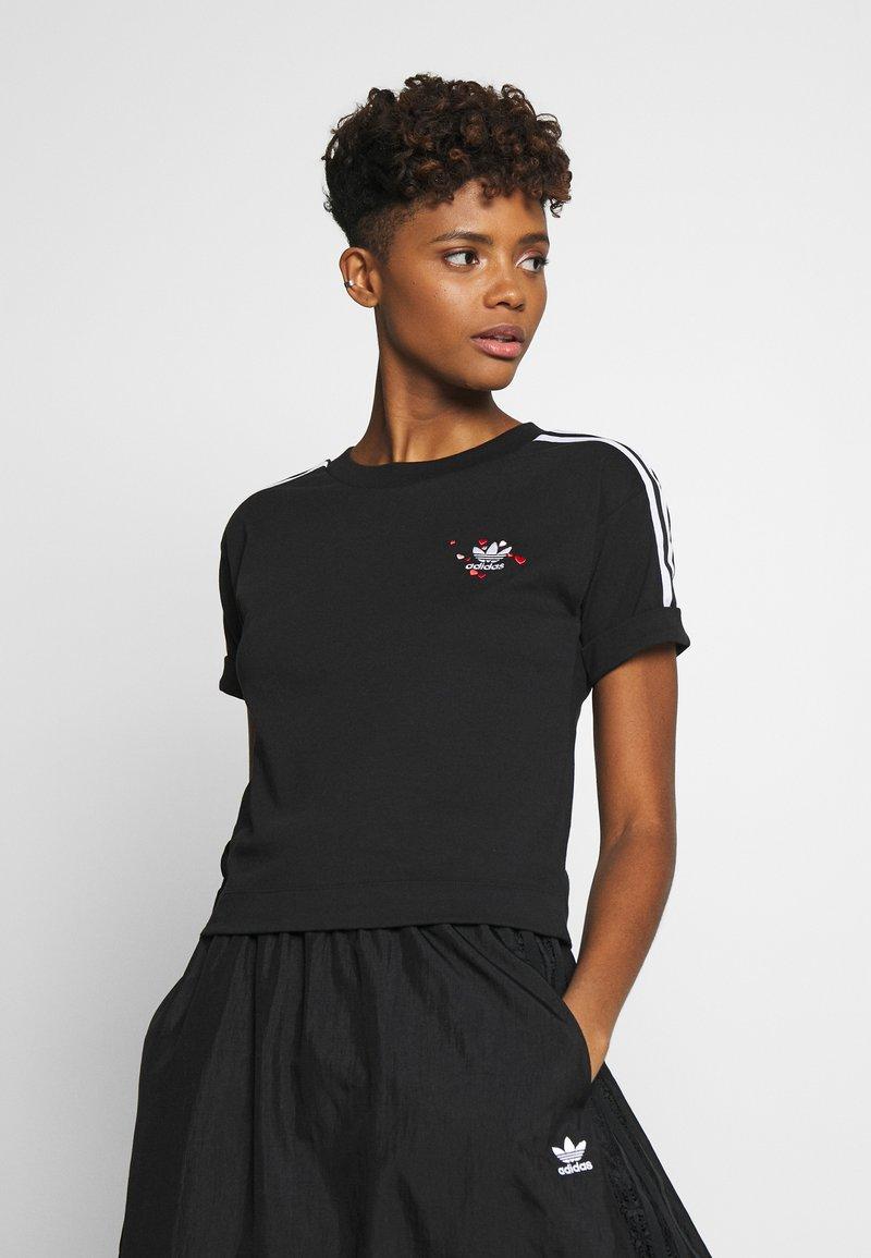 adidas Originals - TREFOIL SHORT SLEEVE TEE - T-shirts med print - black