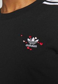 adidas Originals - TREFOIL SHORT SLEEVE TEE - T-shirts med print - black - 6