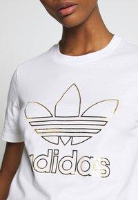 adidas Originals - TEE - T-shirt print - white - 3