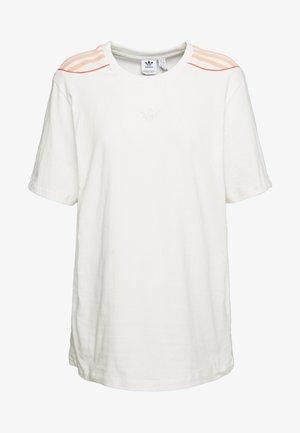 FAKTEN TREFOIL SHORT SLEEVE TEE - Camiseta estampada - chalk white