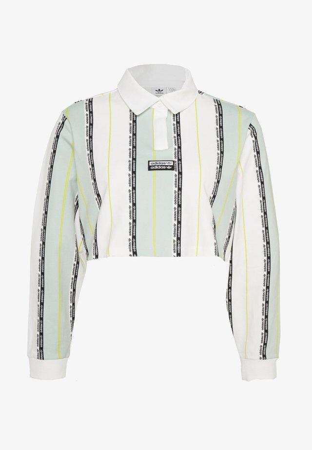 Polo shirt - white/green tint