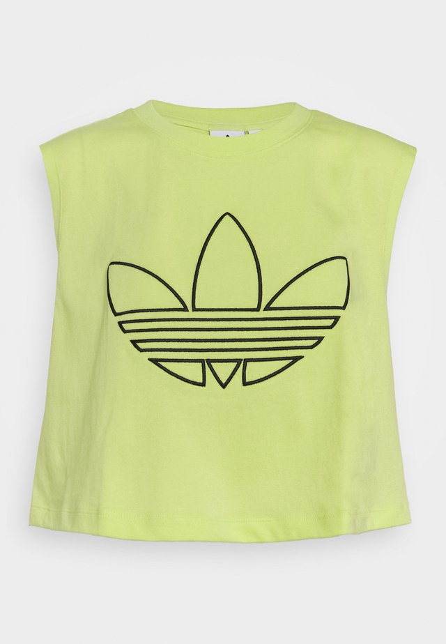 CROPPED TANK - Top - semi frozen yellow