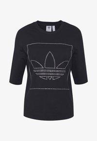 adidas Originals - FAKTEN TREFOIL SHORT SLEEVE TEE - T-shirts med print - black - 3