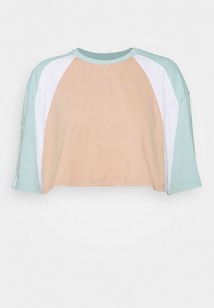 CROPPED - Print T-shirt - green tint/ash pearl