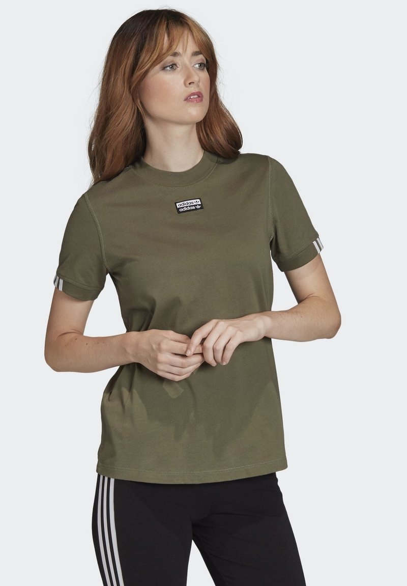 adidas Originals - T-SHIRT - Print T-shirt - green