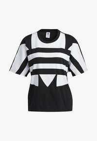 adidas Originals - LARGE LOGO T-SHIRT - T-shirt print - black - 8