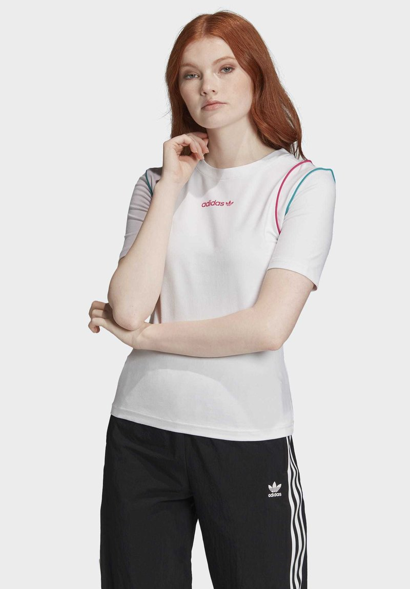 adidas Originals - SLIM T-SHIRT - T-shirt print - white