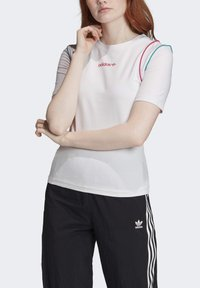 adidas Originals - SLIM T-SHIRT - T-shirt print - white - 4