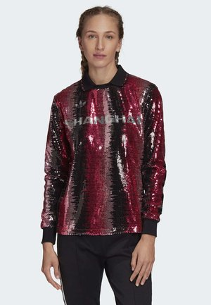 SEQUIN FOOTBALL JERSEY - Polo - pink