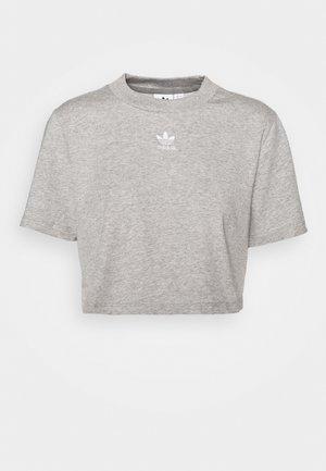 CROPPED TEE - T-Shirt print - medium grey heather