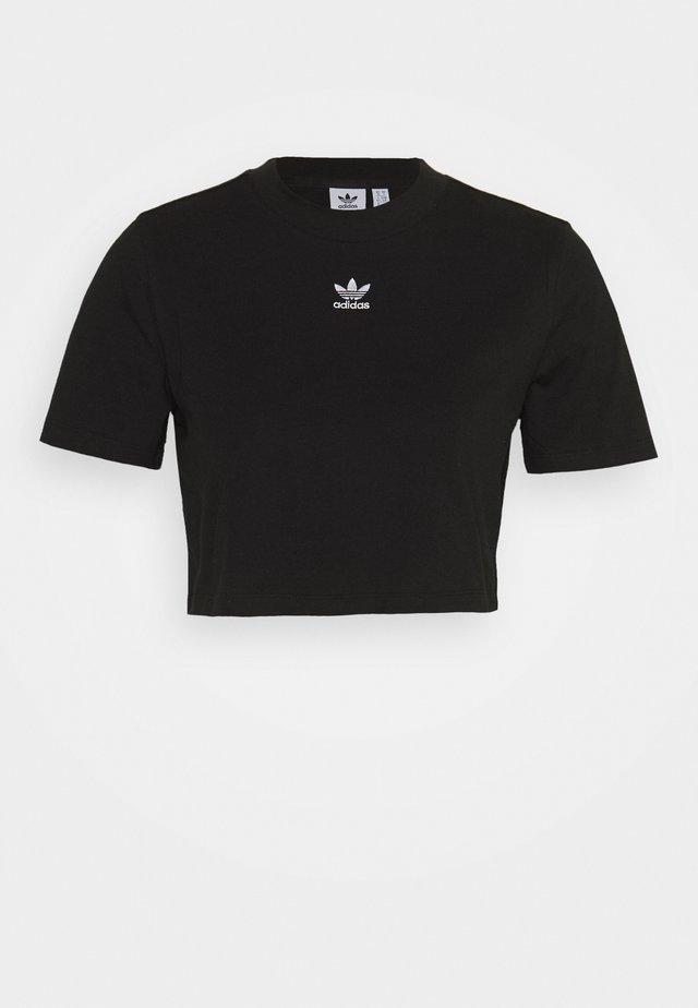 CROPPED TEE - Camiseta estampada - black