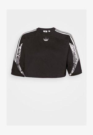 CROPPED TEE - Print T-shirt - black