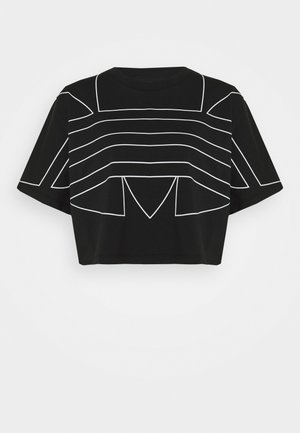 LOGO TEE - T-shirt z nadrukiem - black/white